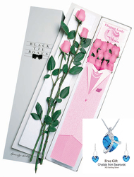 1 Dz Elegant Lady Roses - Pink From Black Tie Valet of Beverly Hills, CA