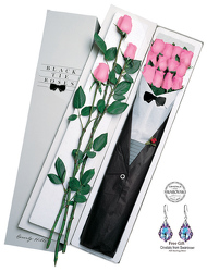 1 Dz Black Tie Roses-Pink From Black Tie Valet of Beverly Hills, CA