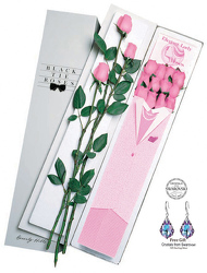 Two Dz Elegant Lady Roses-Pink From Black Tie Valet of Beverly Hills, CA