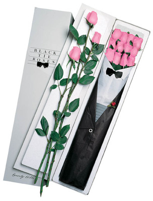 One Dozen Black Tie Roses - Pink From Black Tie Valet of Beverly Hills, CA