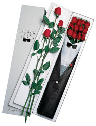One Dozen Black Tie Roses - Red From Black Tie Valet of Beverly Hills, CA