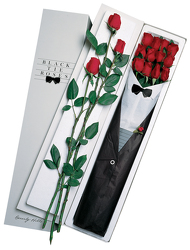1 Dz Black Tie Roses - Red From Black Tie Valet of Beverly Hills, CA