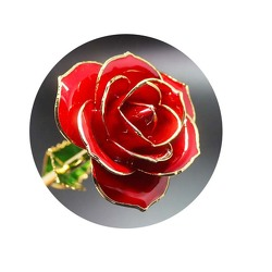 24 kt Gold Red Rose From Black Tie Valet of Beverly Hills, CA