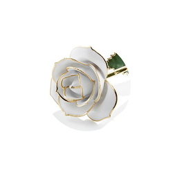 24 kt Gold White Rose  $90.00 From Black Tie Valet of Beverly Hills, CA