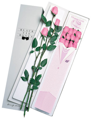 Two Dozen Elegant Lady Roses-Pink From Black Tie Valet of Beverly Hills, CA