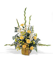 Vibrant Yellow Basket From Black Tie Valet of Beverly Hills, CA