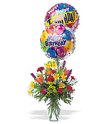 Birthday Balloon Bouquet From Black Tie Valet of Beverly Hills, CA
